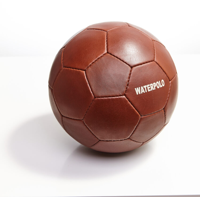 Leather waterpolo ball.
